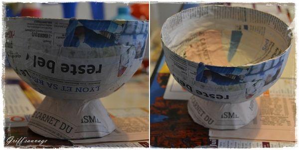 Coupe a fruits en papier mache griff 39 sauvage - Comment faire une coupe architecture ...