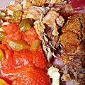 Rouelle de porc mijotée à la provençale