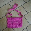 Sac rose au crochet