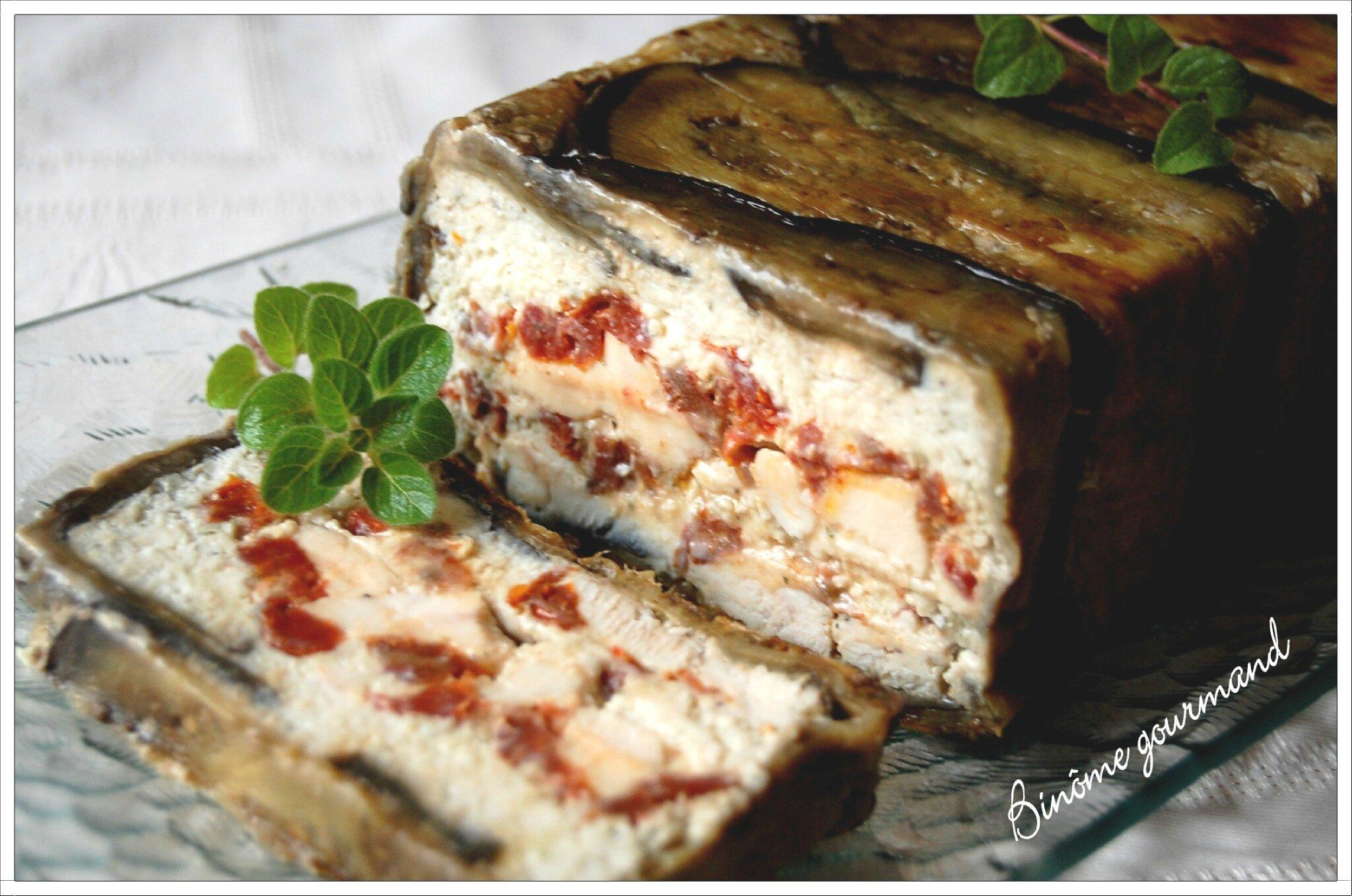 Terrine de poulet aux aubergines et tomates s ch es - Que faire avec des aubergines grillees ...
