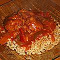 Keftas aux poivrons et sauce tomate au cookéo
