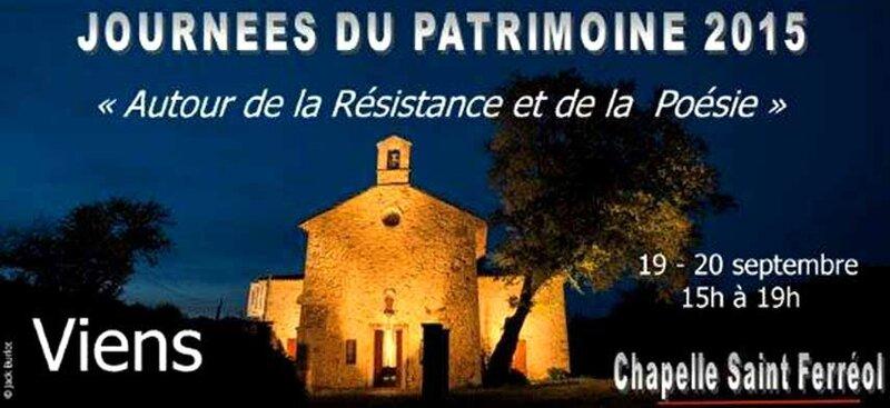 Viens-Journées du patrimoine 2015