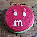 Le gâteau qui s'est pris pour un m&ms mais ...