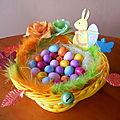 Décoration de Pâques: Panier garni