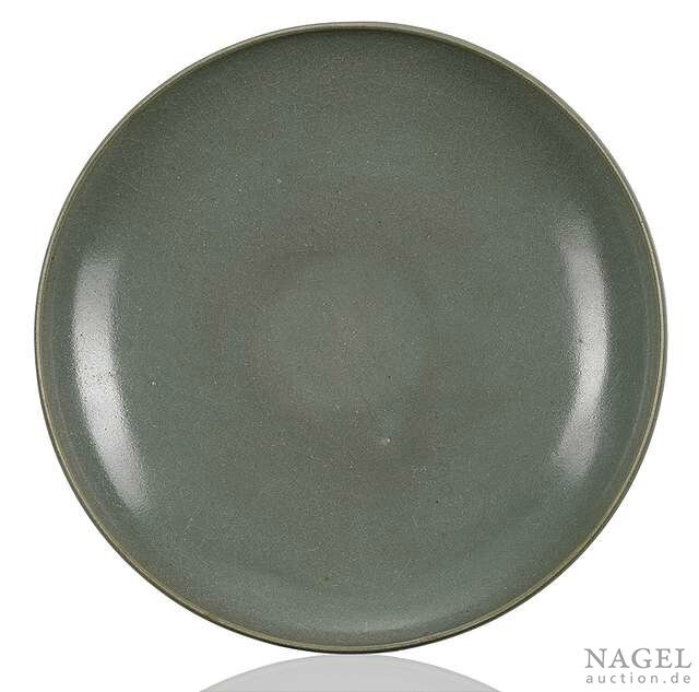 A green-glazed Junyao bowl, China, Song-Jin dynasty