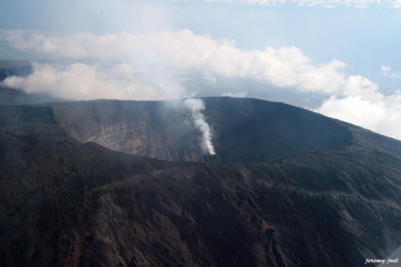 Volcan en eruption