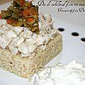 Dos de cabillaud et son riz aux légumes variés