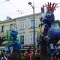 Défilé Carnavalesque à Limoges en 2009 : char dessins animés