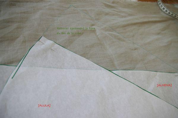 6-retracer la ligne du bas de la robe