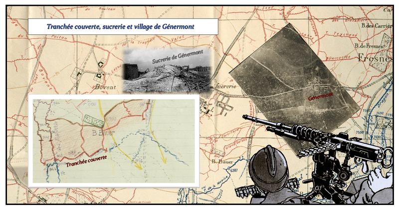 Tranchee Couverte, sucrerie et village de Genermont