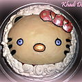 Gâteau framboise, chocolat blanc. { Hello Kitty}