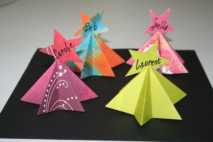 Tuto origami marque place - Marque place noel scrapbooking ...