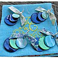BO Trio de nacres émail marine vert d'eau-marine vert turquoise