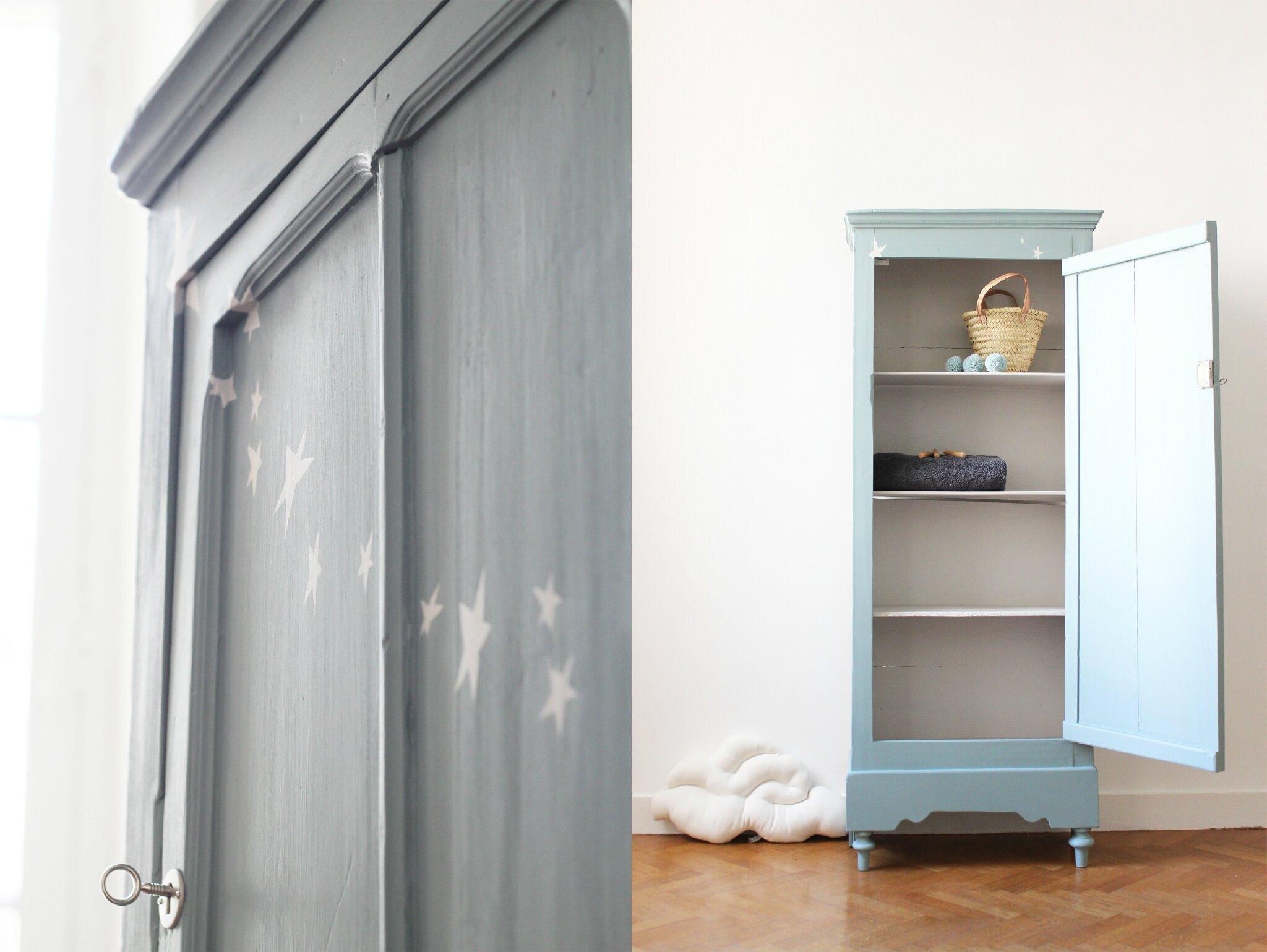 Petite armoire parisienne vintage TRENDY LITTLE
