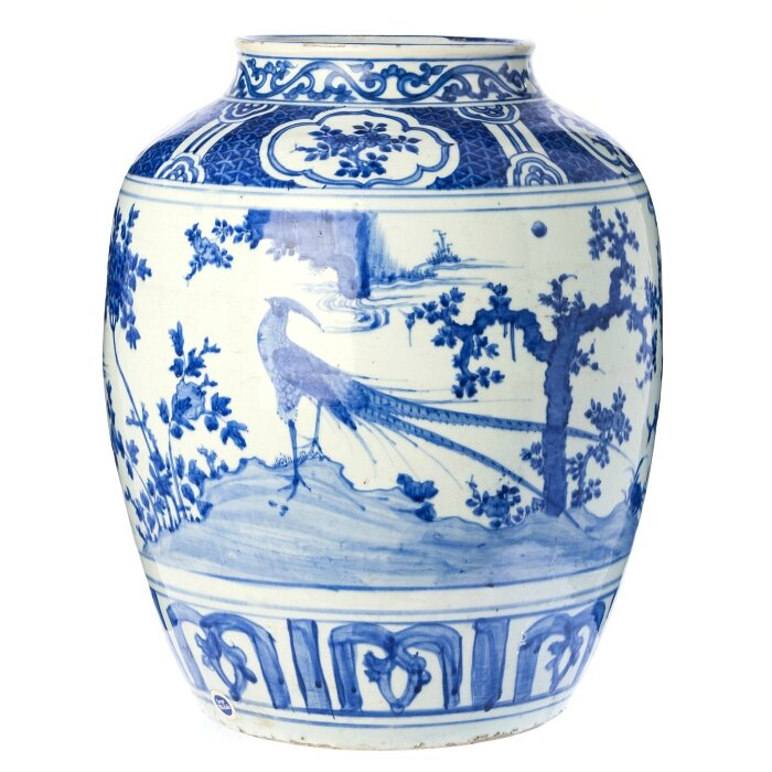 'Pheasants' jar, Chinese porcelain, Ming Dynasty, Wanli period (1563-1620)