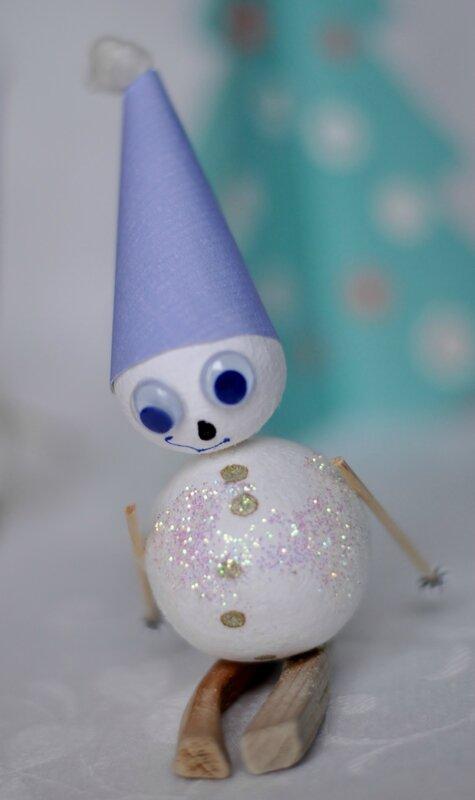 Il était une fois cinq petits bonhommes de neige...Once upon a time, there were five little snowmen.....