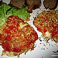 Poivrons grillés panés fourrés au fromage a raclette