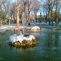 Le Foirail et sa fontaine gelée