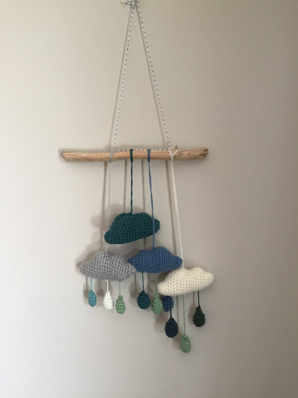 nuage, crochet, mobile