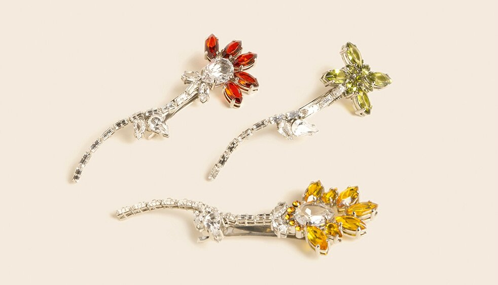 Prada's Flower Brooches