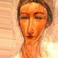 Self portrait october : by modigliani