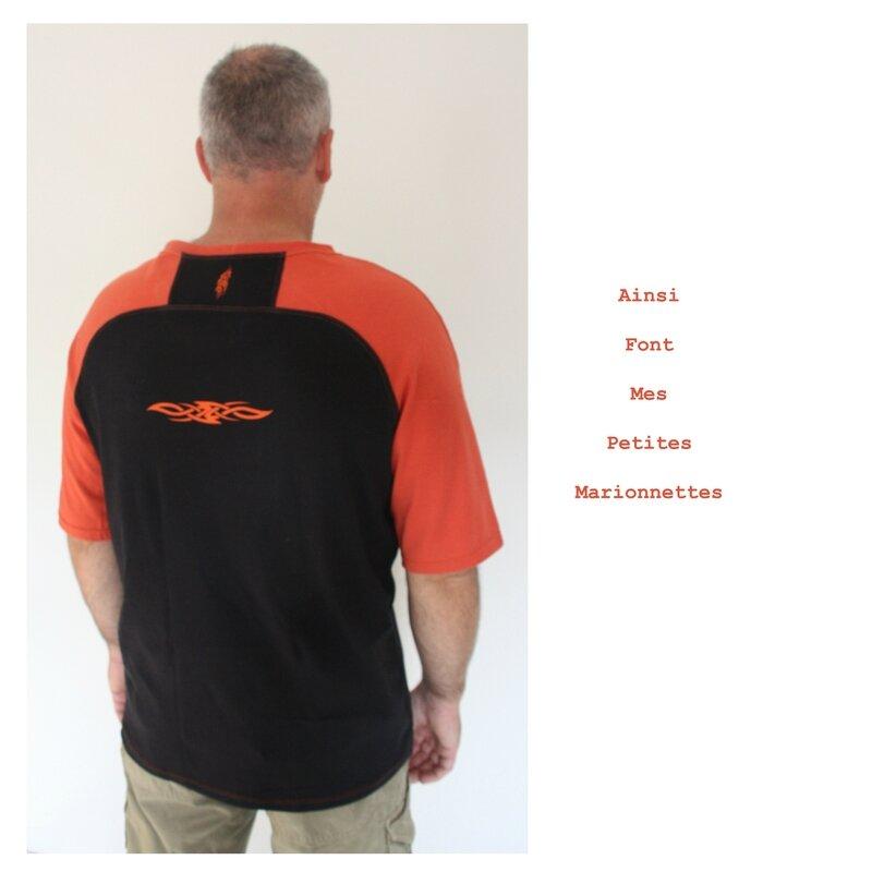 tee shirt orange tribal charly 6