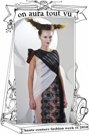défilé luxe semaine de la mode 2010, robe en tulle de soie
