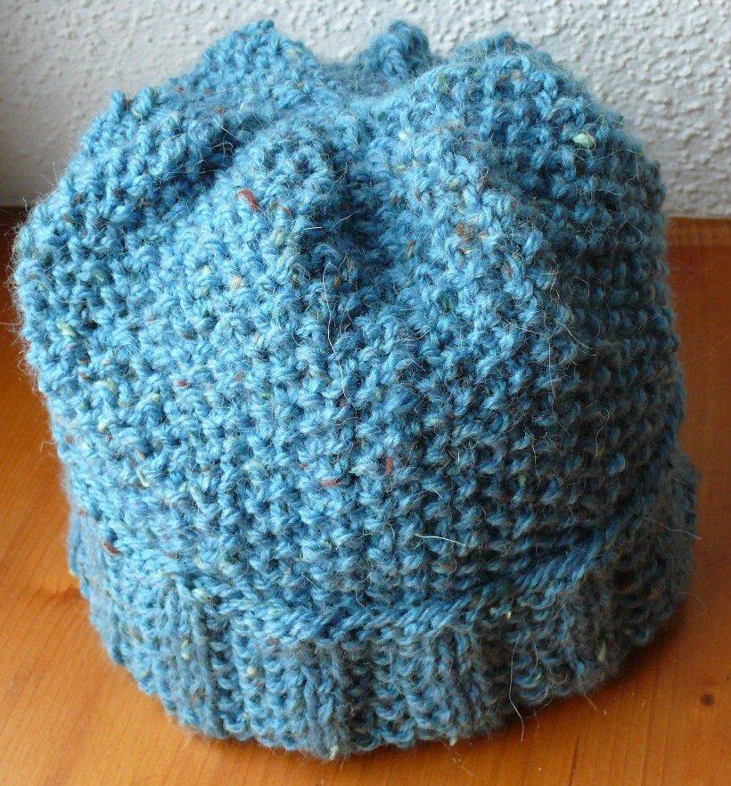febad0dd555d Tricoter un bonnet au point de riz - Idées de tricot gratuit