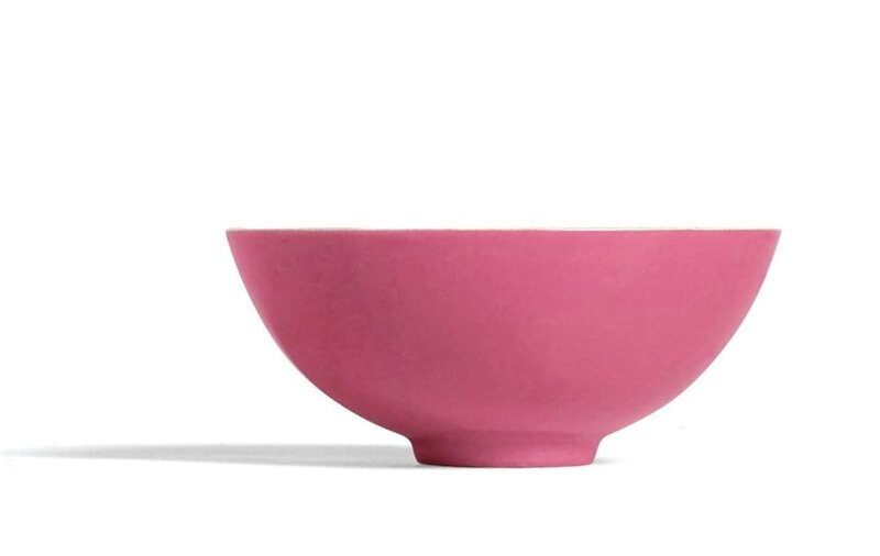 A rare small famille-rose and pink-enamelled bowl, Mark and period of Yongzheng