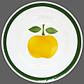 Vaisselle vintage ... assiette à dessert pomme * mdl