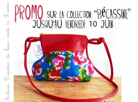 Promotions sur la collection Sac Becassine jusqu'au vendredi 10 juin 2016 par CrApule FActOru artisan créatur de beau made in France www.crapule-factory.com