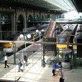 Quais Eurostar à la gare du Nord à Paris