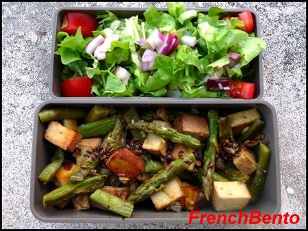 poelee arperge tofu