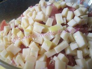 Verrine de pâtes au melon et jambon24