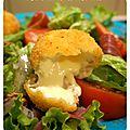 Mini babybel panés... pour une salade gourmande