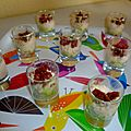 Verrine multicolore