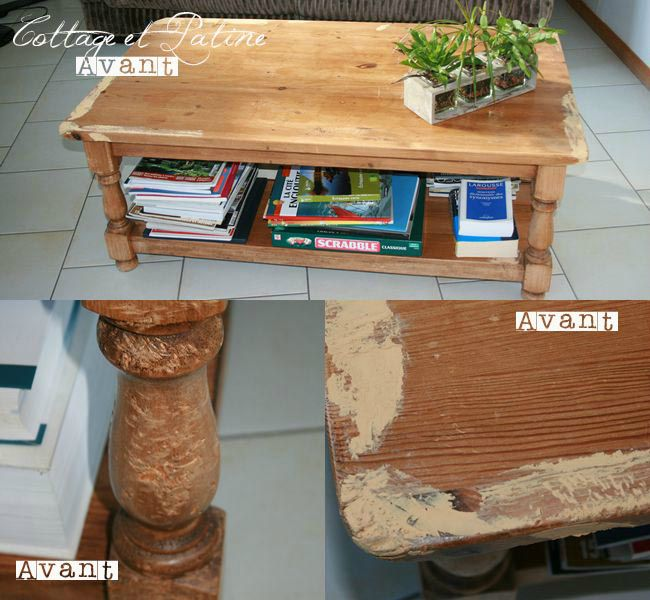 Une table basse qui a du chien  AvantAprès  Cottage  ~ Customiser Table Basse En Bois