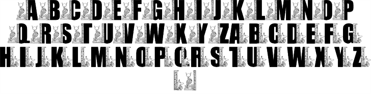LMS Egyptian Bookends font