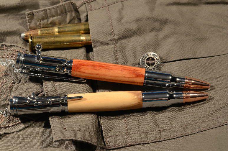 Stylo culasse de fusil tourneplume - Couleur canon de fusil ...