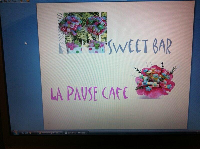 panneau sweet bar bapteme