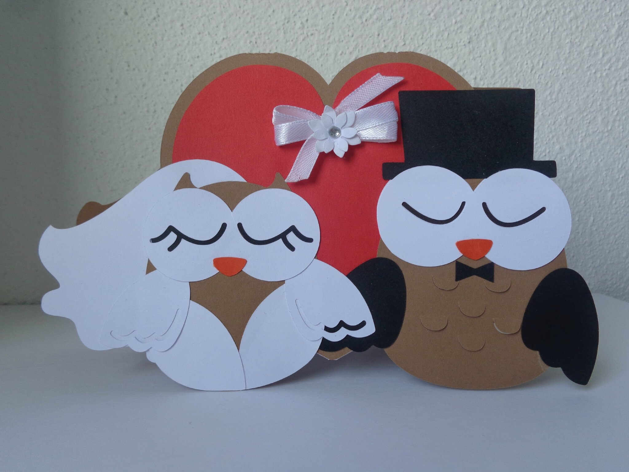 "Carte mariage ""chouettes"""