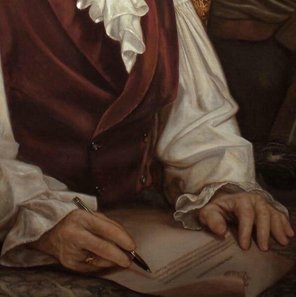 mgr Comte de Paris détail du portrait 3