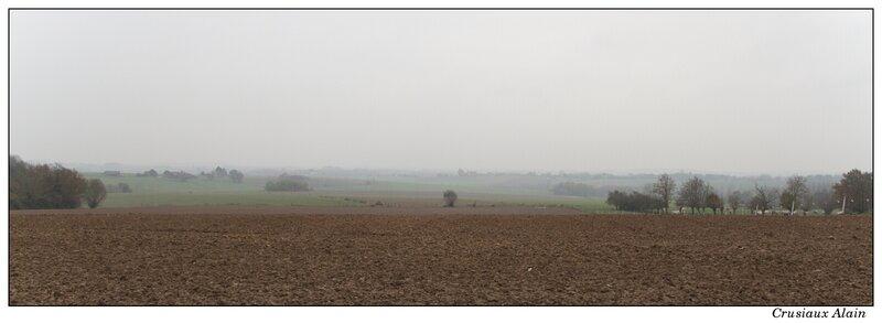 les champs attendent l'hiver