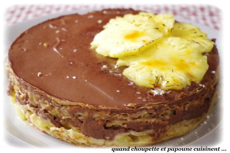 gâteau de crêpes ananas-chocolat-7191