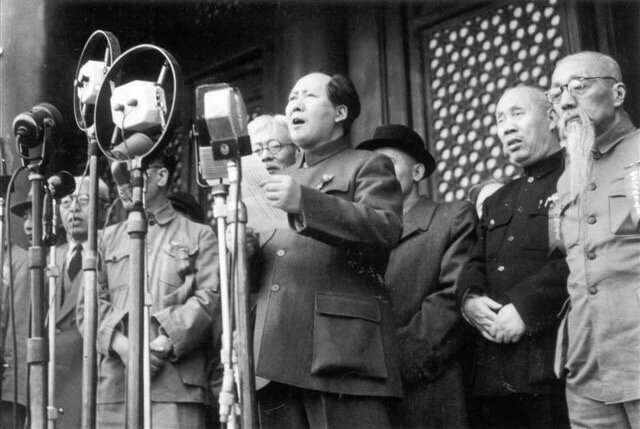 proclamation Rép Pop Chine par Mao 1er oct 1949