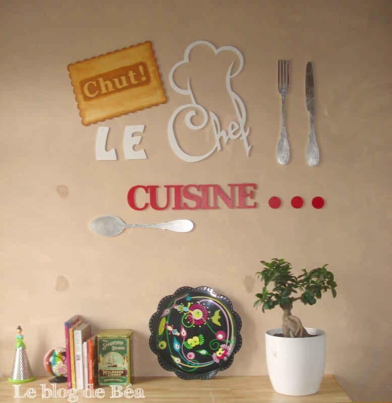 Chut le chef cuisine le blog de b a for Decoration murale de cuisine