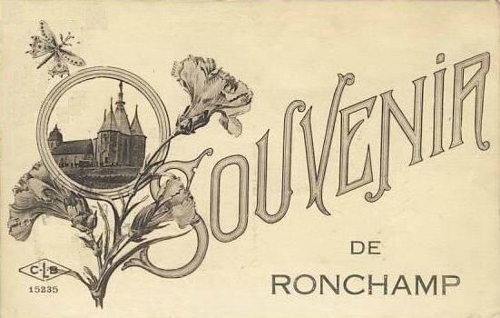 CPA Ronchamp Souvenir