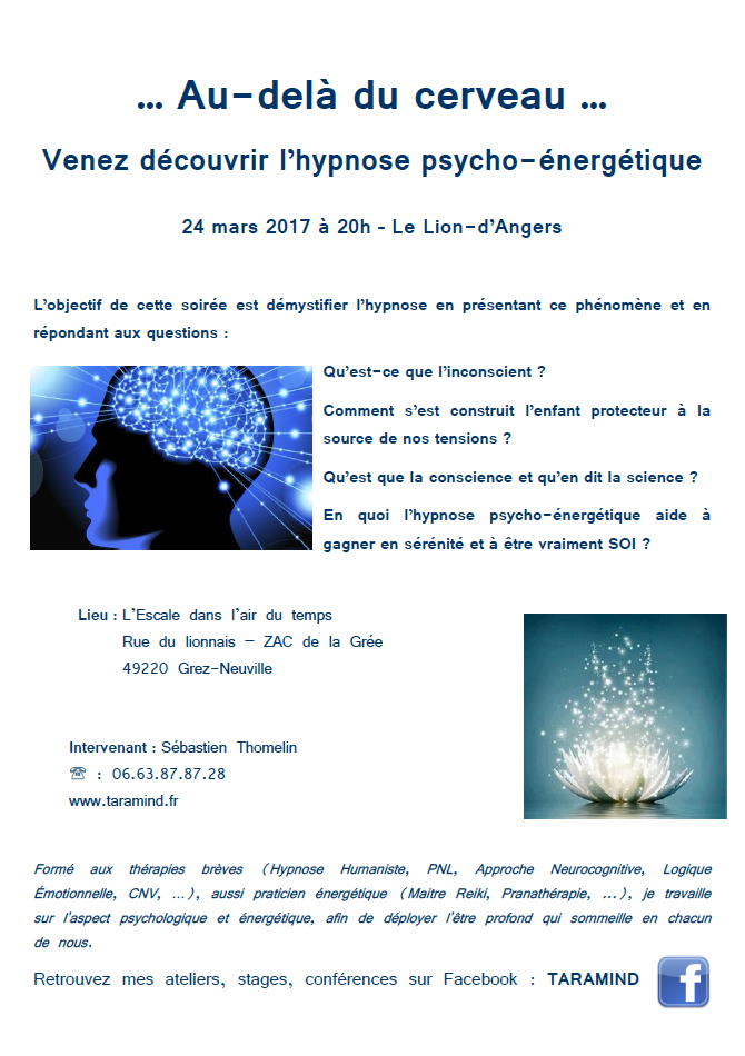 CONFERENCE HYPNOSE PSYCHO-ENERGETIQUE
