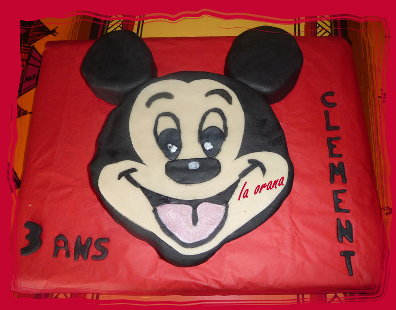 Gâteau tête de Mickey/Mickey cake