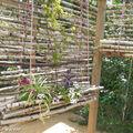 Les cloisons deviennent progressivement bancs, hamacs et jardinières.